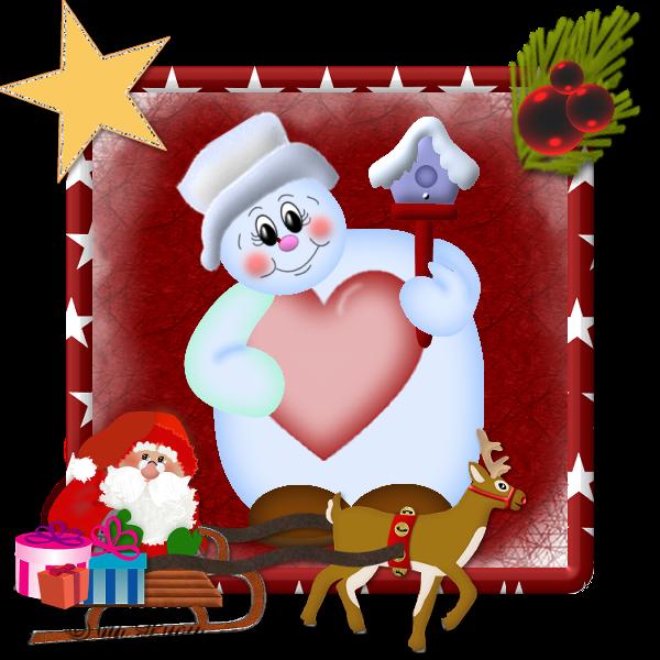 weihnachten mit schlitten coopy